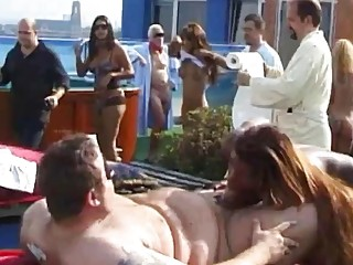 German mega-orgy with hot chicks sexy shemales and old dudes