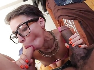 Cuckold gives watches his wife banging with a horny shemale