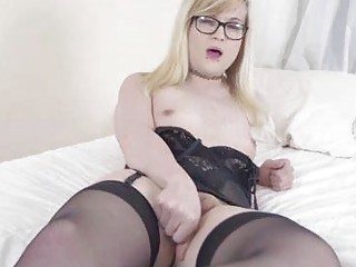 Cute Emo Teen Trap with Glasses