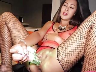 PostOp Ladyboy Quiz Toys Her Brand New Pussy