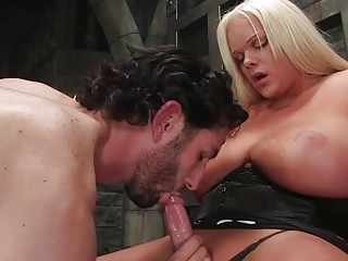 Needy shemale shakes them huge tits in insane XXX