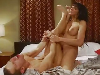 Horny tranny ass fucks her man in brutal modes