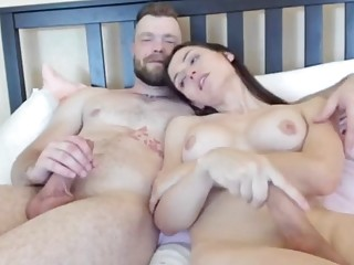 Busty nude transsexual bends for cock in exclusive XXX