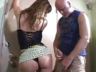 Bald dude gets naughty with a shemale